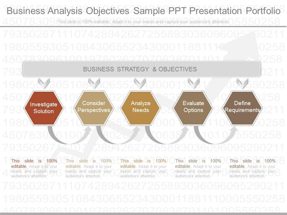 Original Business Analysis Objectives Sample Ppt Presentation