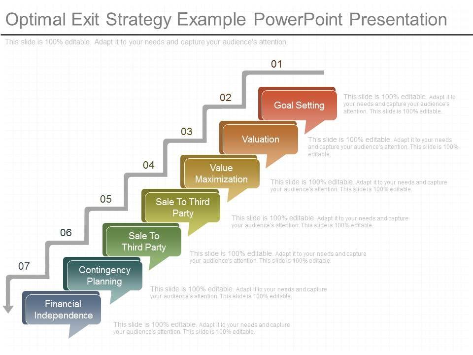 Original Optimal Exit Strategy Example Powerpoint Presentation Slide01 Slide02