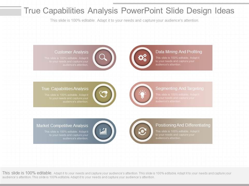 Original True Capabilities Analysis Powerpoint Slide Design