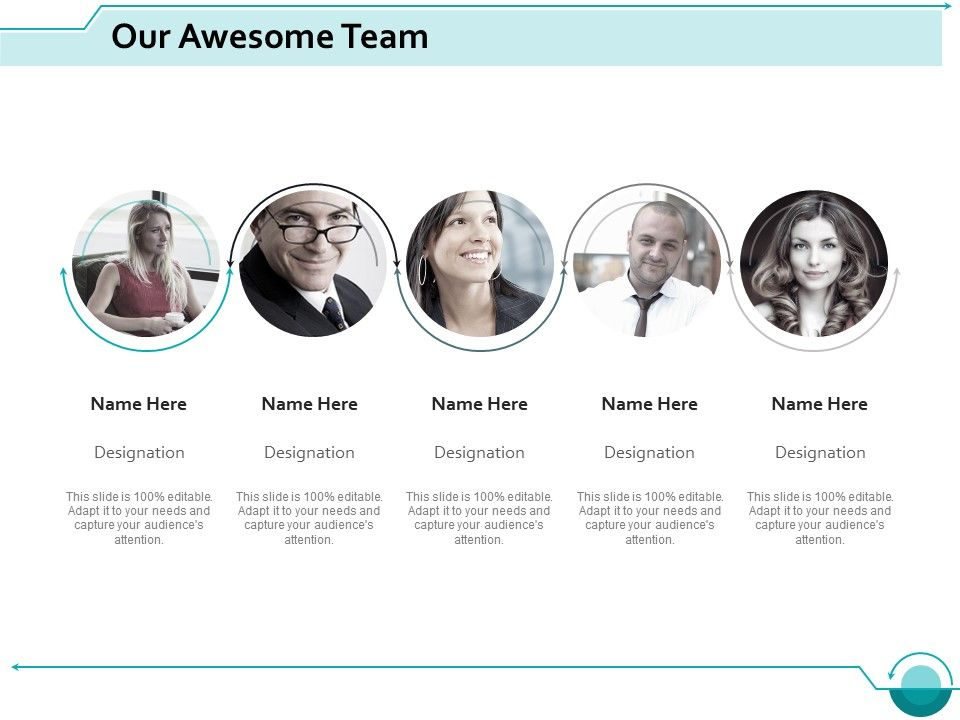 Our Awesome Team Introduction Ppt Slides Design Templates