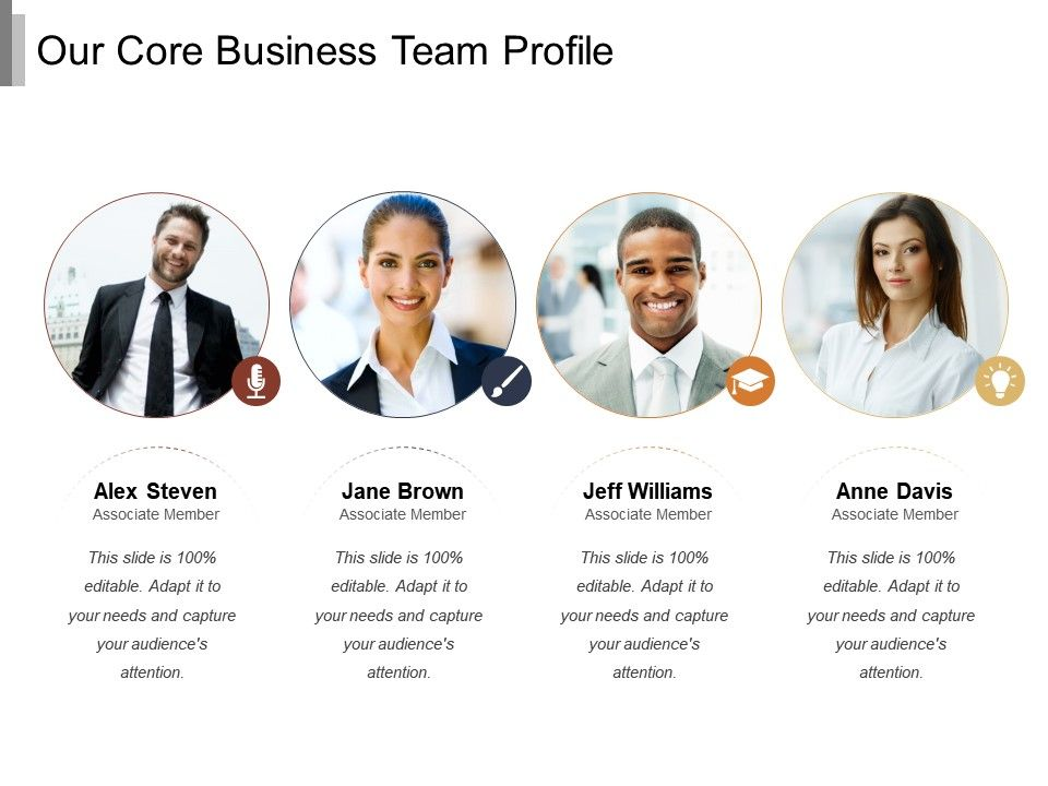 Our Core Business Team Profile   PowerPoint Presentation