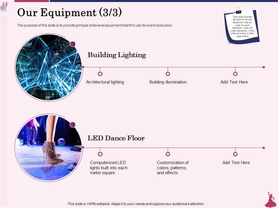 Our Equipment Building Lighting Ppt Powerpoint Presentation Outline Portrait