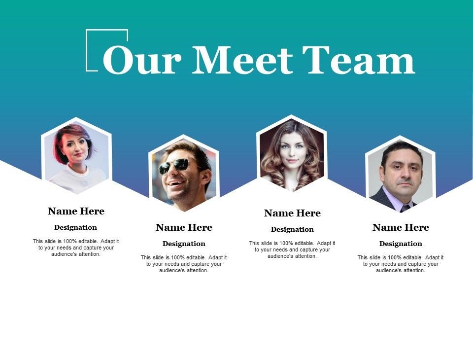 our meet team ppt ideas powerpoint presentation designs slide