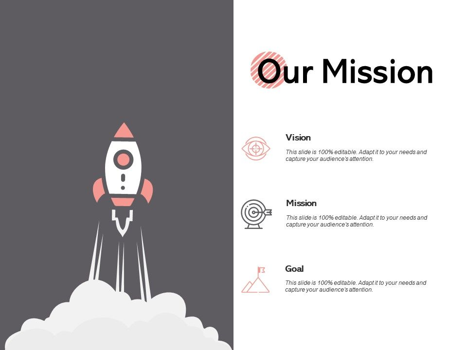 Our Mission And Vision Goal D142 Ppt Powerpoint Presentation Gallery Picture