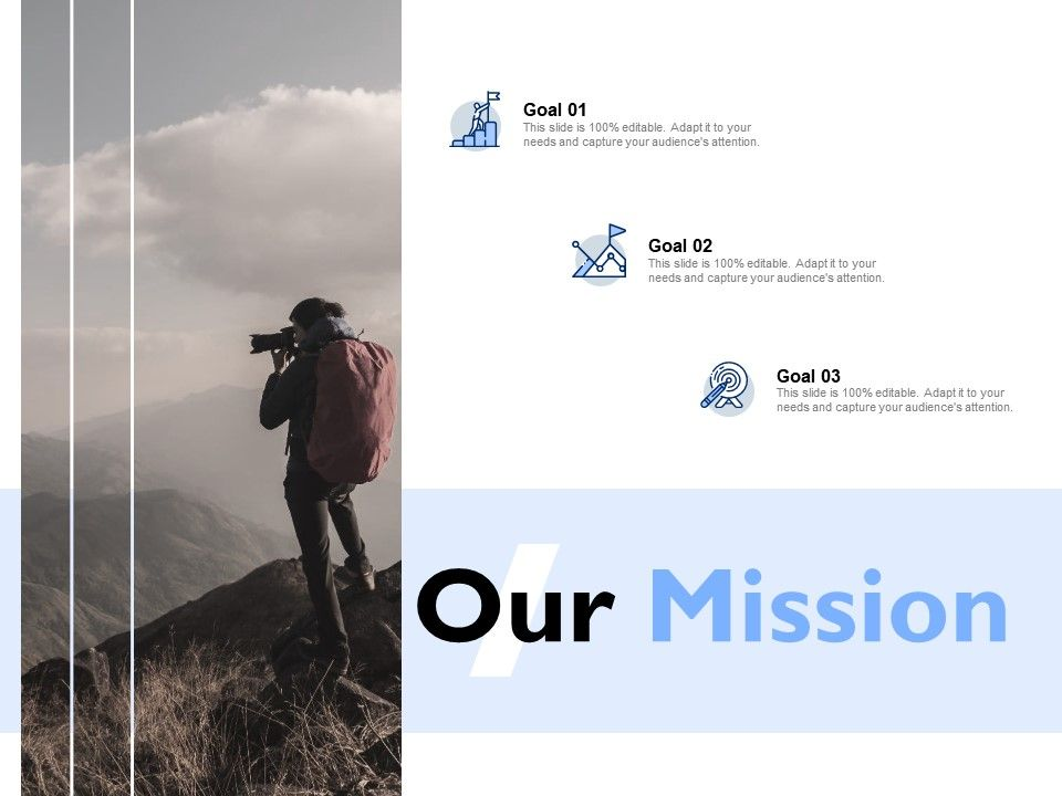 Our Mission And Vision Goal E16 Ppt Powerpoint Presentation Icon Deck