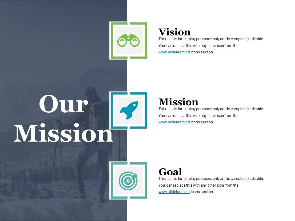 our mission powerpoint slide background powerpoint slide