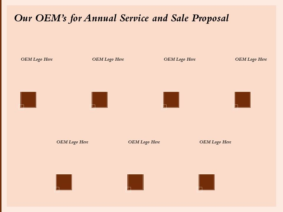 Our OEMs For Annual Service And Sale Proposal Ppt Powerpoint Presentation Model