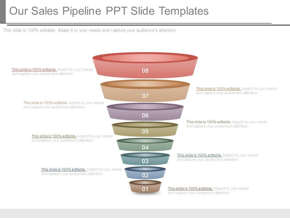 marketing pipeline template - our sales pipeline ppt slide templates