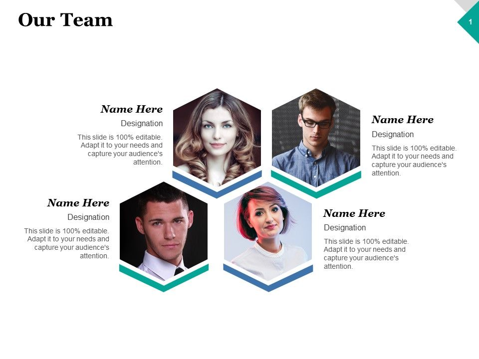 Our Team Introduction Ppt Inspiration Graphics Example