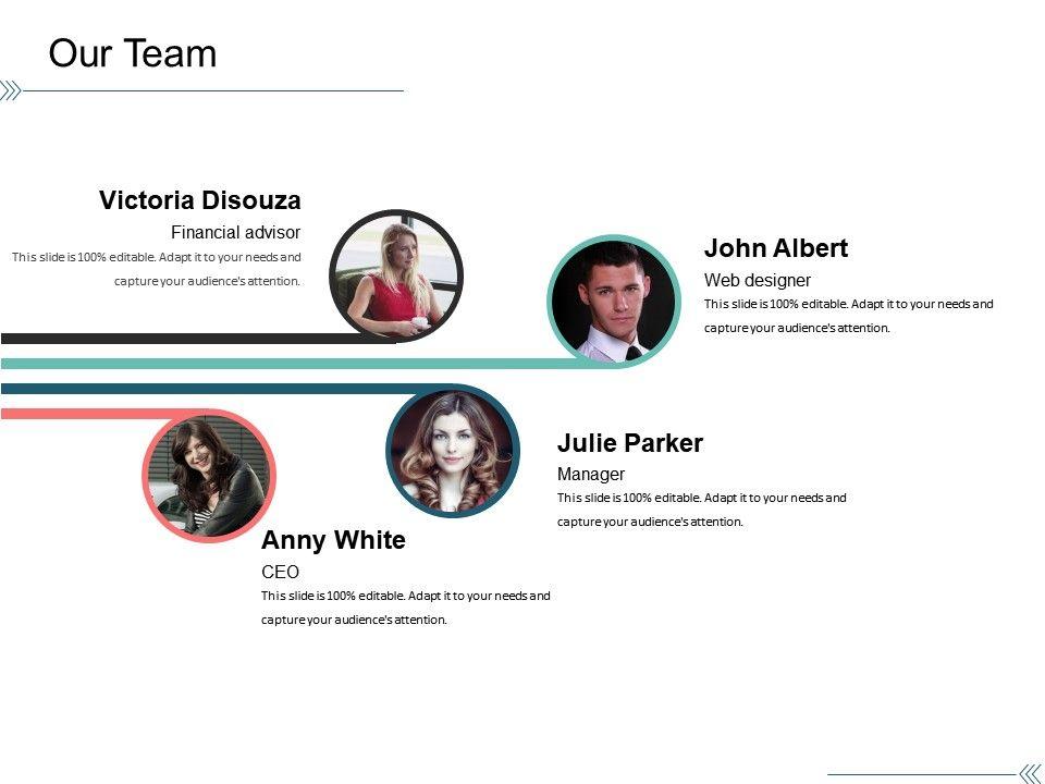 our team presentation portfolio template 1 templates powerpoint