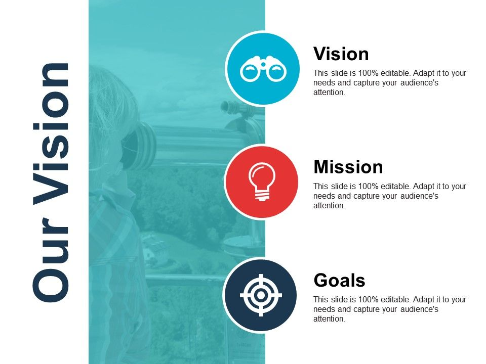 our vision powerpoint slide deck template powerpoint presentation