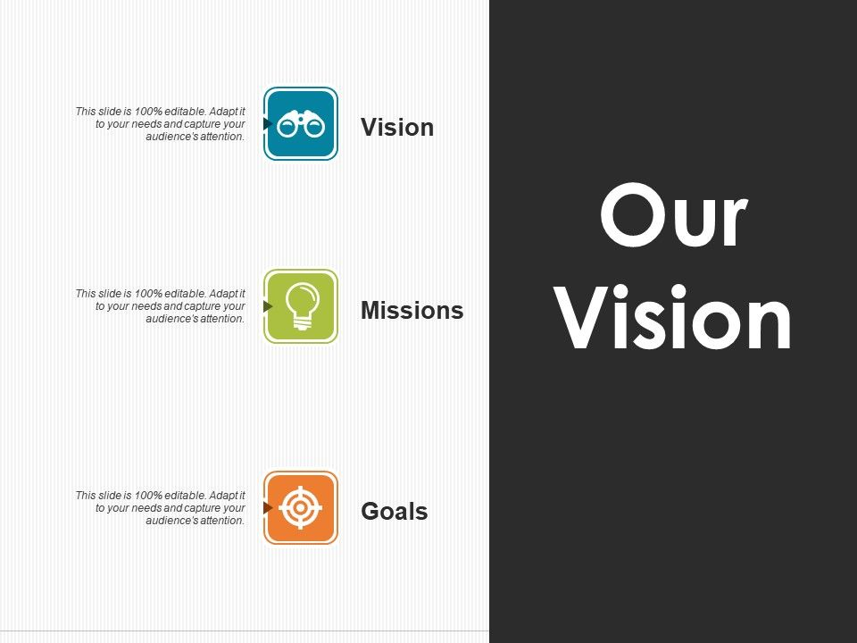 our vision ppt pictures design inspiration powerpoint slide