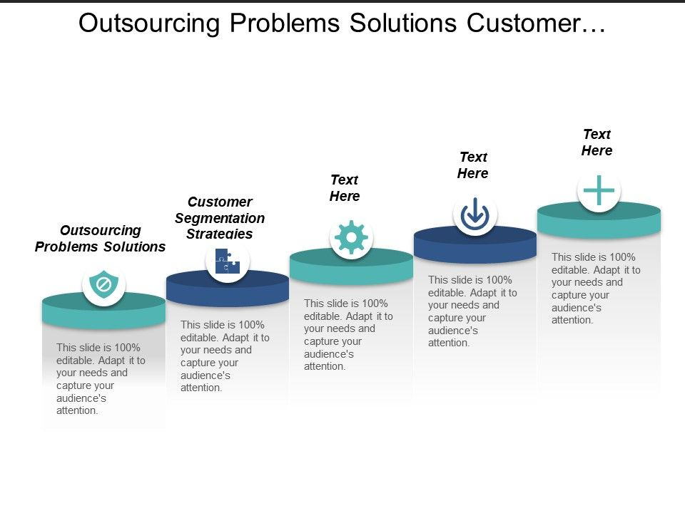 outsourcing_problems_solutions_customer_segmentation_strategies_content_strategy_cpb_Slide01