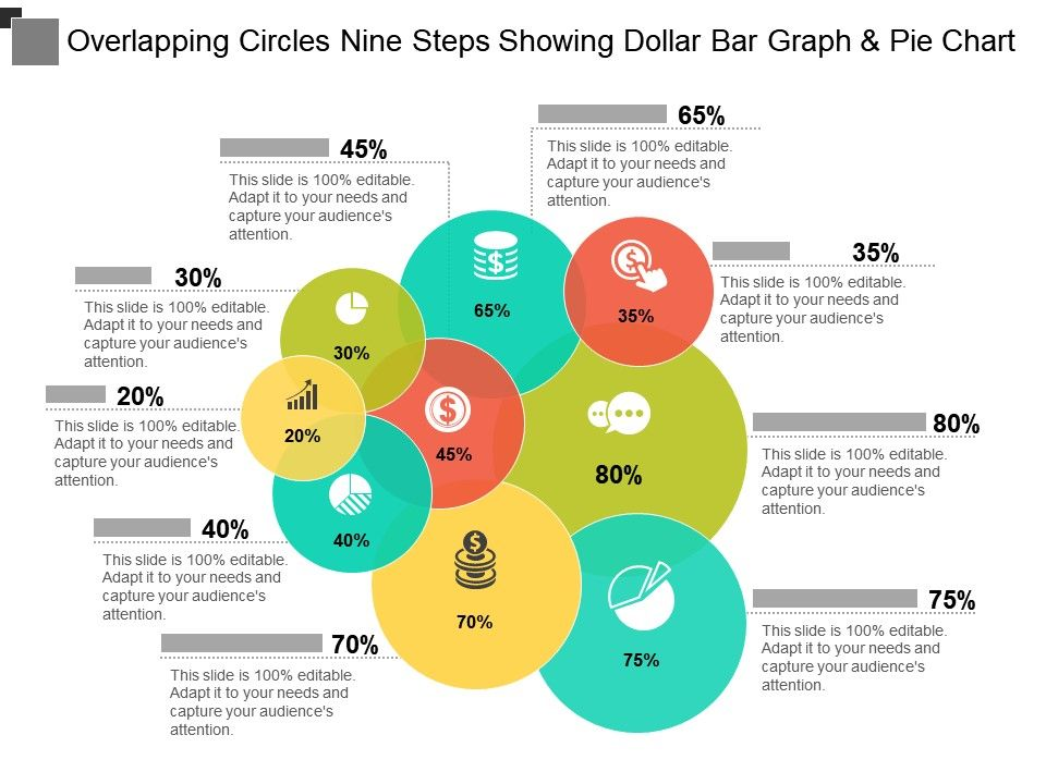 overlapping_circles_nine_steps_showing_dollar_bar_graph_and_pie_chart_Slide01