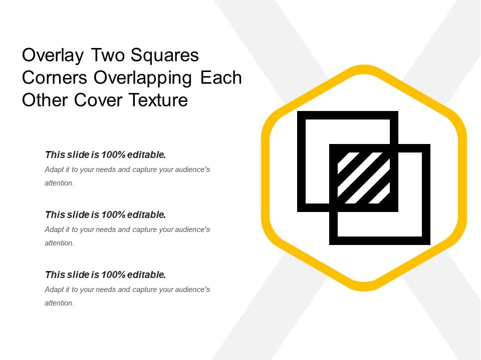 Overlay Two Squares Corners Overlapping Each Other Cover Texture