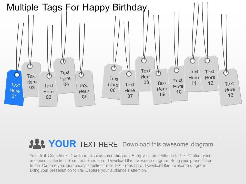 Ow Multiple Tags For Happy Birthday Powerpoint Template Powerpoint