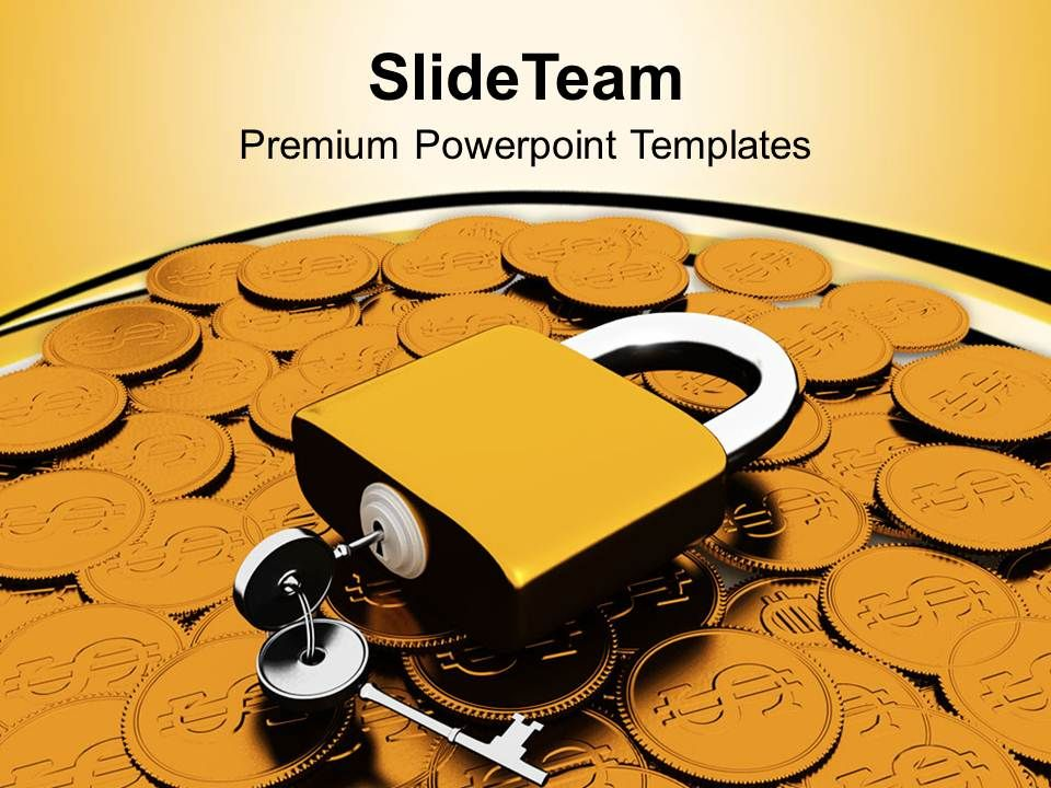 padlock_and_coins_financial_security_powerpoint_templates_ppt_themes_and_graphics_0113_Slide01