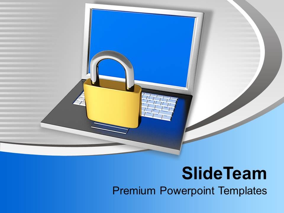 padlock_on_laptop_internet_security_powerpoint_templates_ppt_themes_and_graphics_0113_Slide01