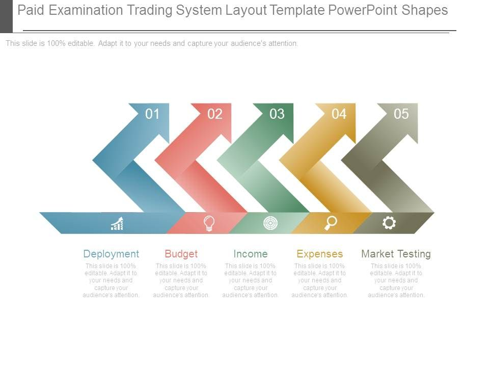 Paid Examination Trading System Layout Template Powerpoint Shapes