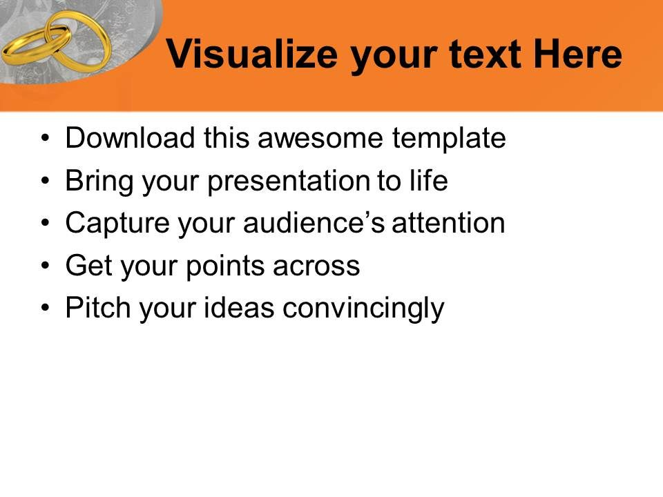 pair of golden rings wedding powerpoint templates ppt backgrounds, Powerpoint templates