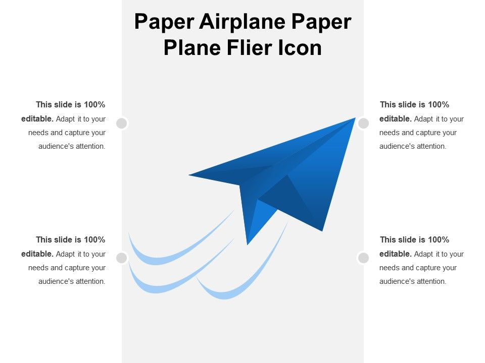 Paper Airplane Flyer Icon | Templates PowerPoint Slides | PPT ... | 720x960