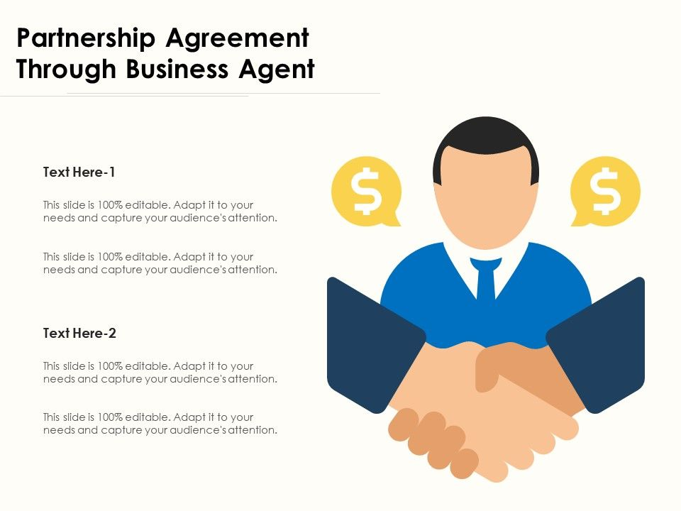 Partnership Agreement Through Business Agent