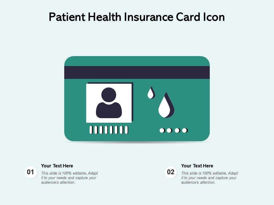 Patient Health Insurance Card Icon   Presentation Graphics ...