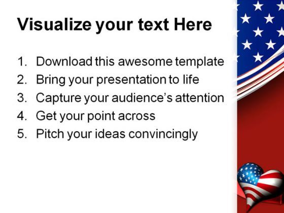 Patriotic love heart americana powerpoint template 1010 patriotic love heart americana powerpoint template 1010 presentation themes and graphics slide03 toneelgroepblik Images