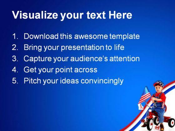 Patriotic Triker Children Powerpoint Templates And Powerpoint