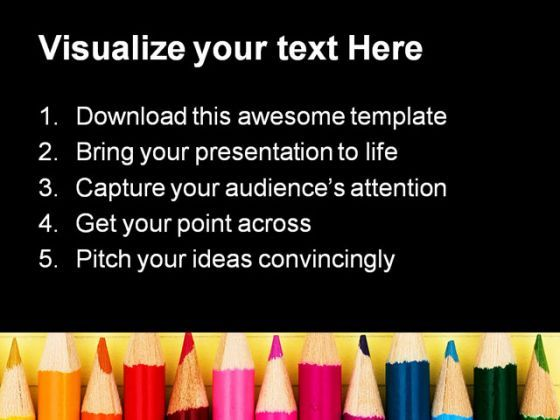 Pencils Education Powerpoint Template   Template Presentation