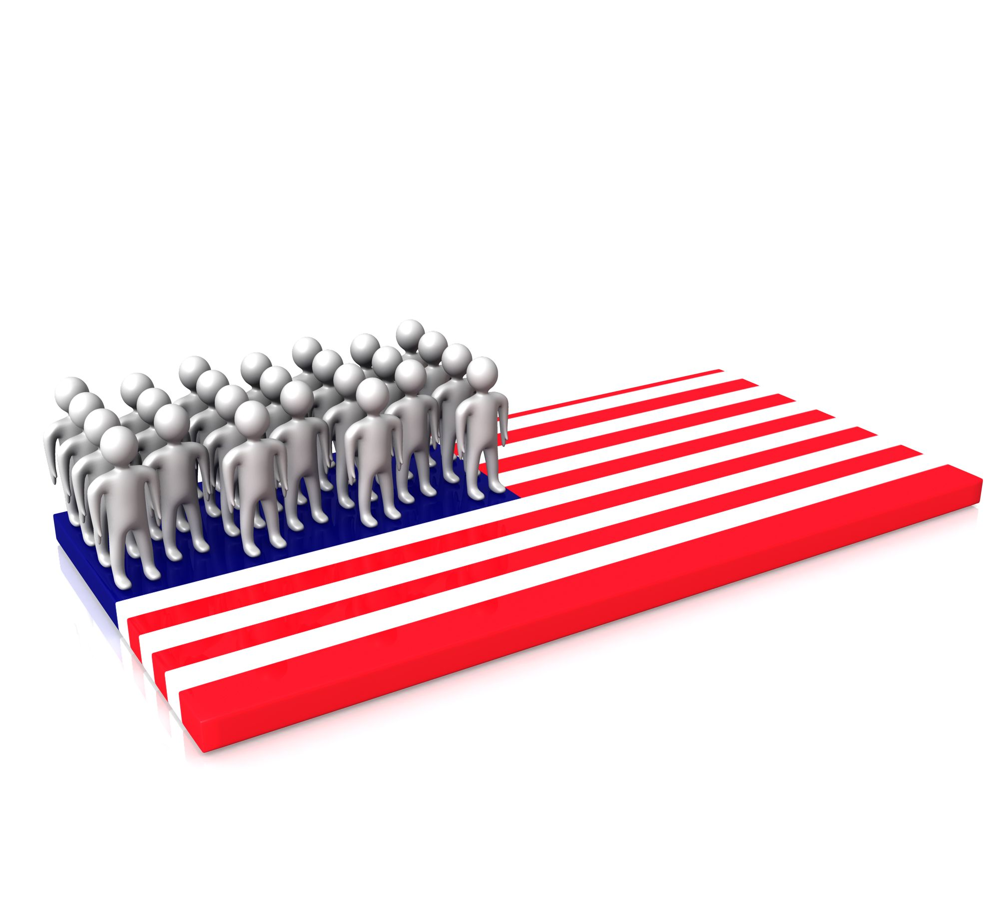 People Standing On Us Flag Stock Photo Templates