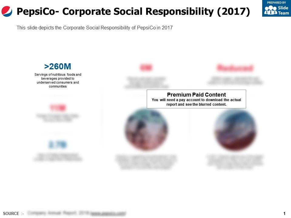 Pepsico Corporate Social Responsibility 2017