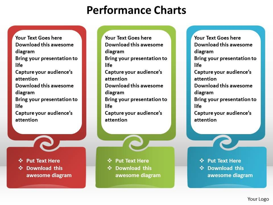 performance charts side by side text boxes in line powerpoint diagram templates graphics 712. Black Bedroom Furniture Sets. Home Design Ideas