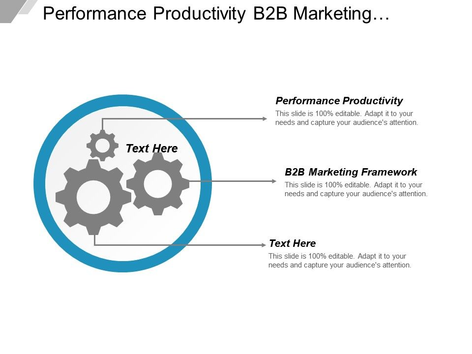 performance_productivity_b2b_marketing_framework_sustainable_development_business_cpb_Slide01