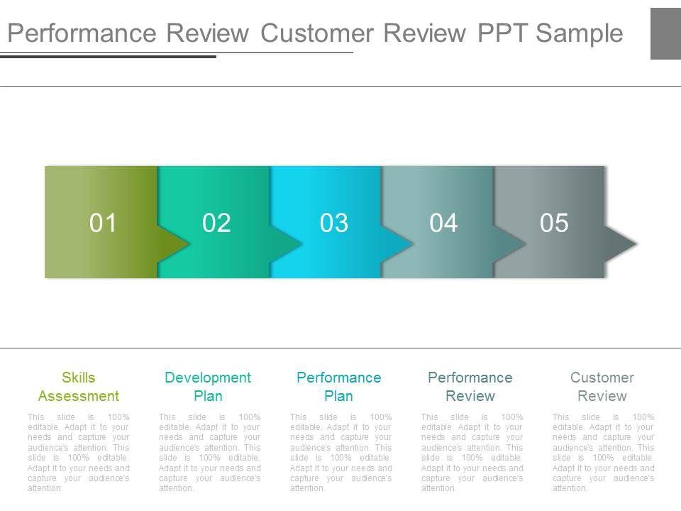 performance review customer review ppt sample presentation powerpoint templates ppt slide. Black Bedroom Furniture Sets. Home Design Ideas