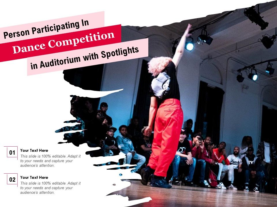 Person Participating In Dance Competition In Auditorium With Spotlights