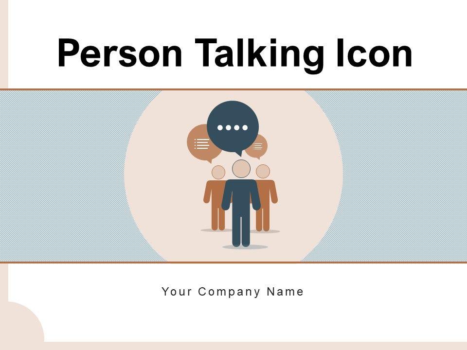 Person Talking Icon Communication Resolution Platform Business Management