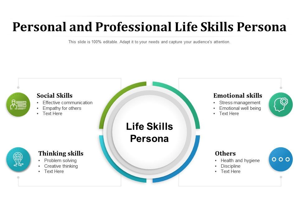 Personal And Professional Life Skills Persona