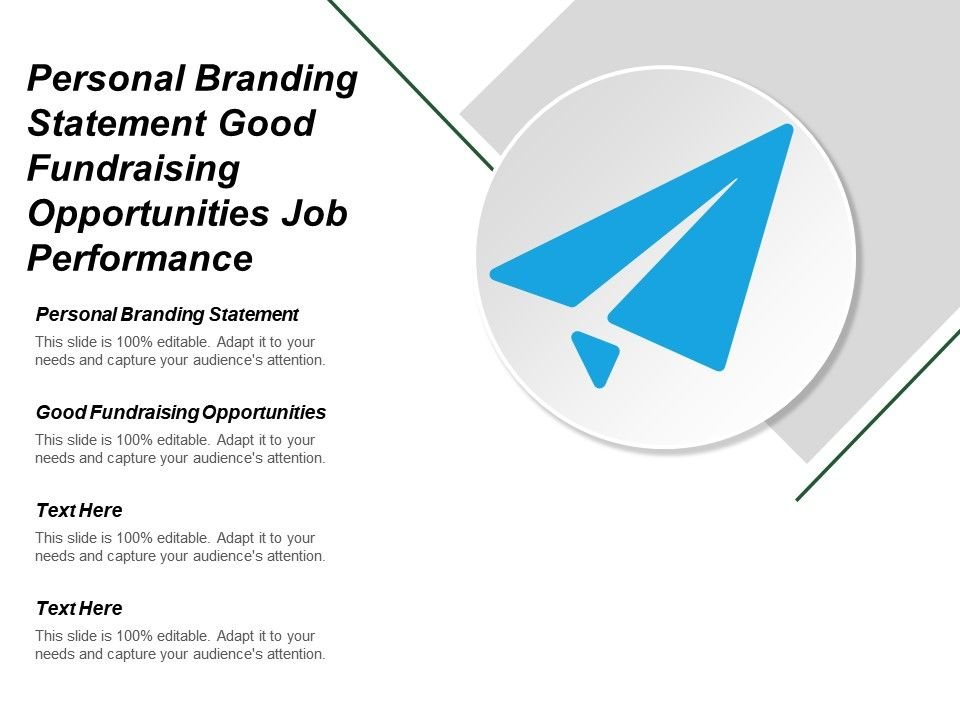 Personal Branding Statement Good Fundraising Opportunities