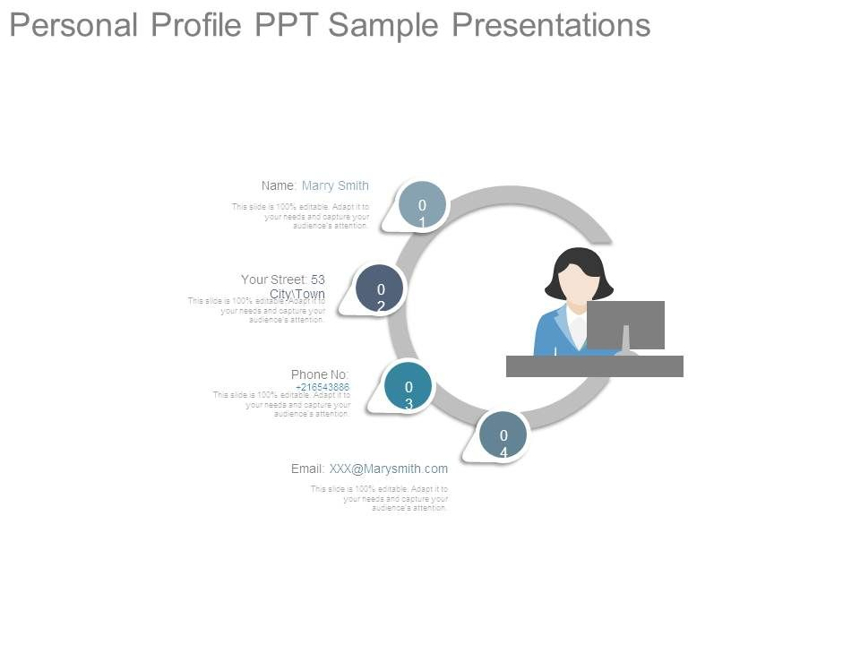 personal profile ppt sample presentations template presentation