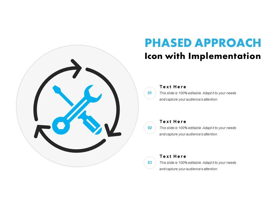 Phased Approach Icon With Implementation