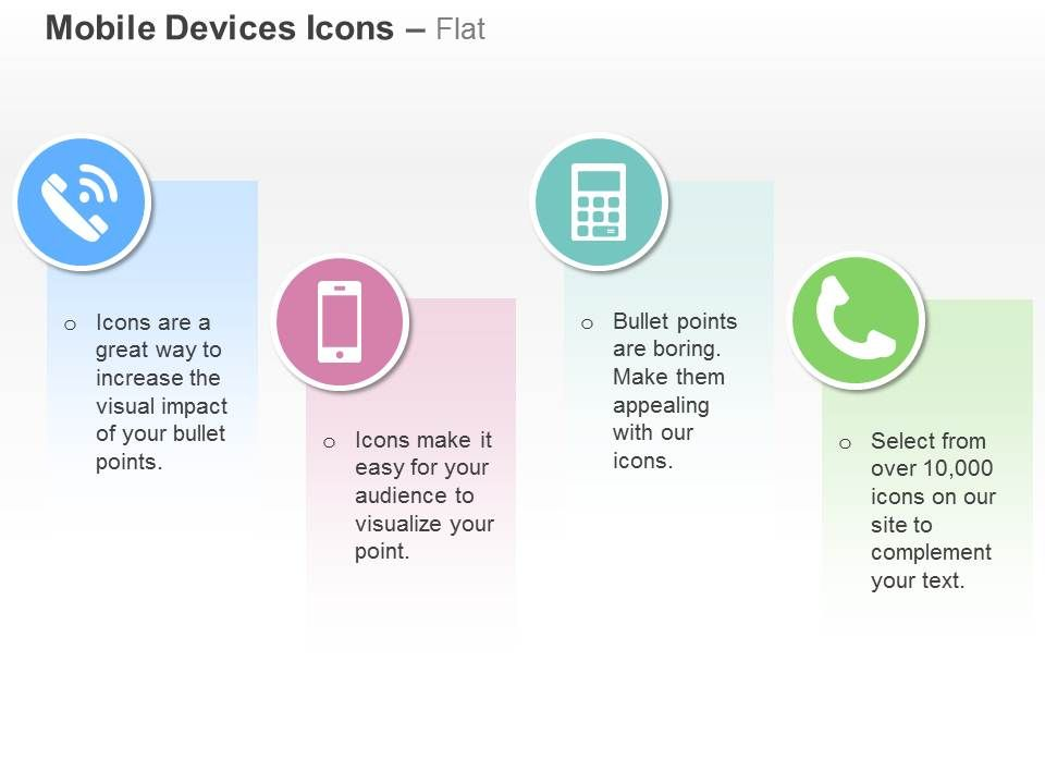 phone mobile telecommunication devices ppt icons graphics, Powerpoint templates