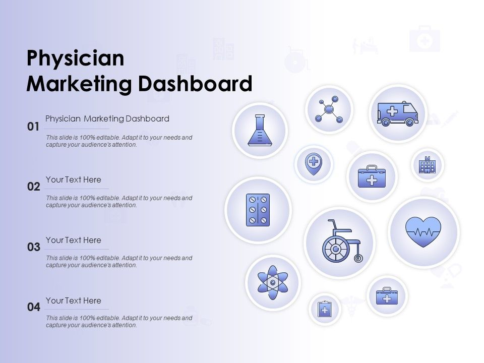 Physician Marketing Dashboard Ppt Powerpoint Presentation Template
