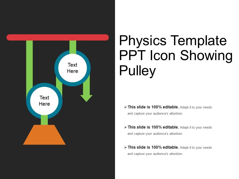 Physics Template Ppt Icon Showing Pulley | Presentation PowerPoint