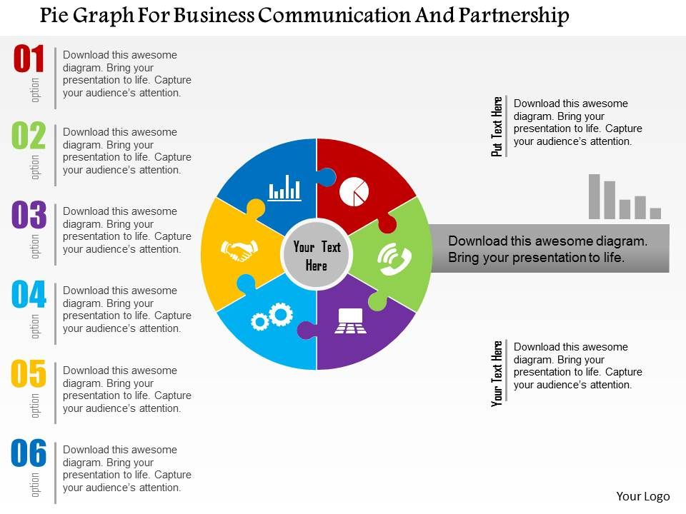 pie_graph_for_business_communication_and_partnership_flat_powerpoint_design_Slide01