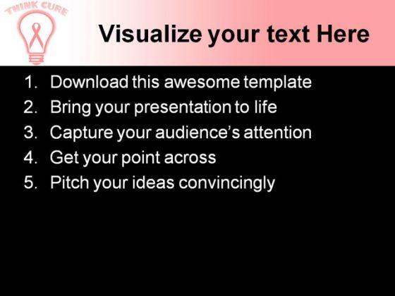 pink ribbon breast cancer medical powerpoint templates and, Modern powerpoint