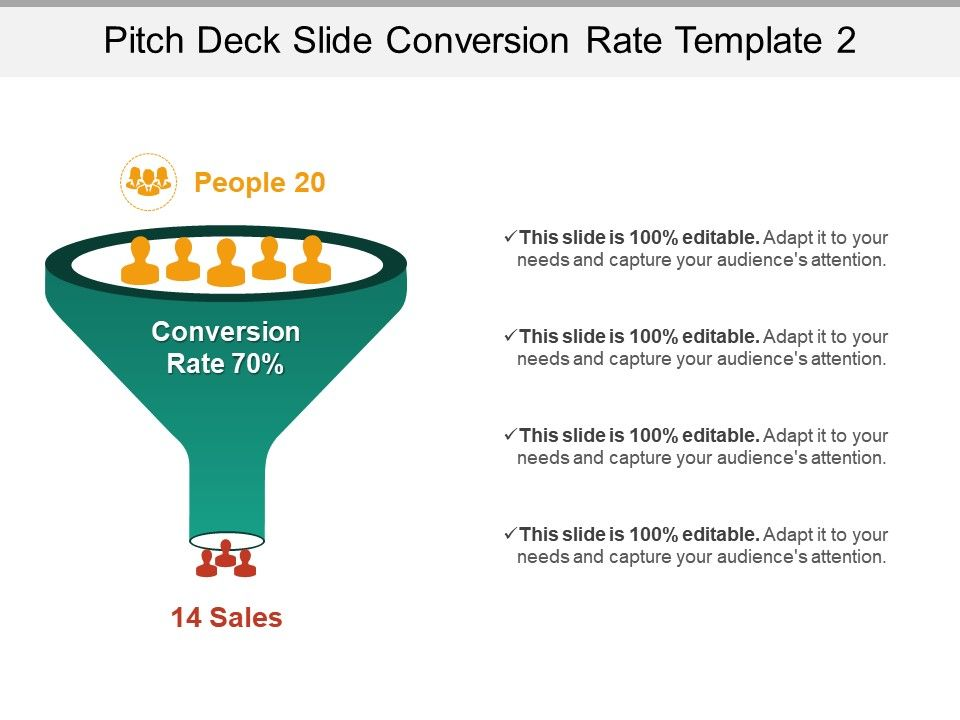 Pitch Deck Slide Conversion Rate Template 2 Ppt Slides