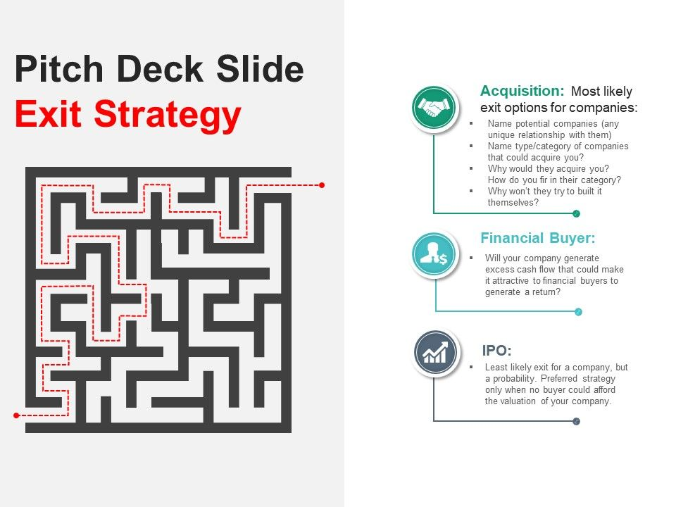 Pitch Deck Slide Exit Strategy Presentation Slide01 Slide02