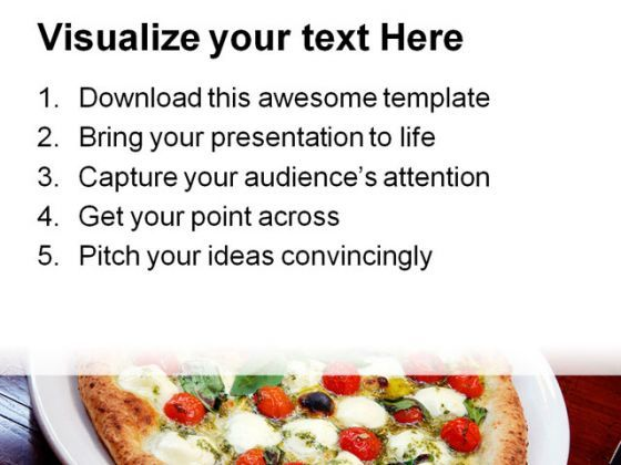 pizza with tomatoes and cheese food powerpoint templates and, Modern powerpoint
