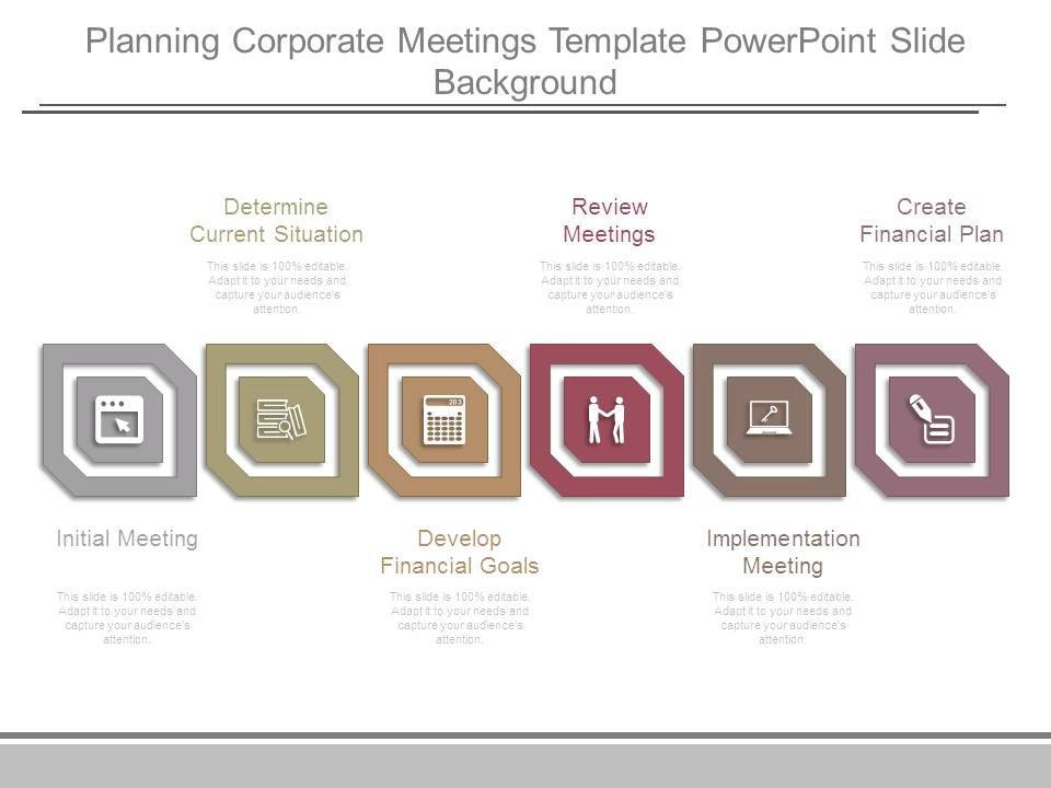 planning corporate meetings template powerpoint slide background
